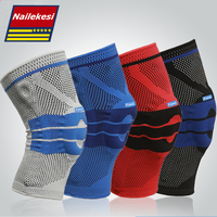 Professional 1 Piece Silicon KneePads Knitted Meniscus Protection Safety Pads Basketball Sports Knee Support 4 Colors