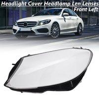 Front Left Headlight Headlamp Len Plastic Lenses Shell Cover For Mercedes/Benz C180 C200 C260L C280 C300 W205 2015 2016 2018