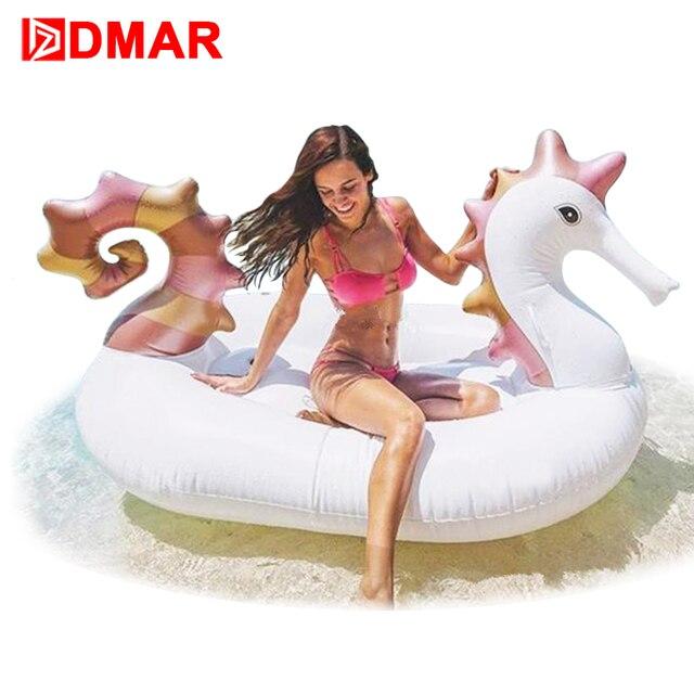 11271620b826 DMAR Gonfiabile Sea Horse Gaint Piscina Galleggiante Materasso Unicorno  Sunbathe Mat Pegasus Anello di Nuoto Cerchio