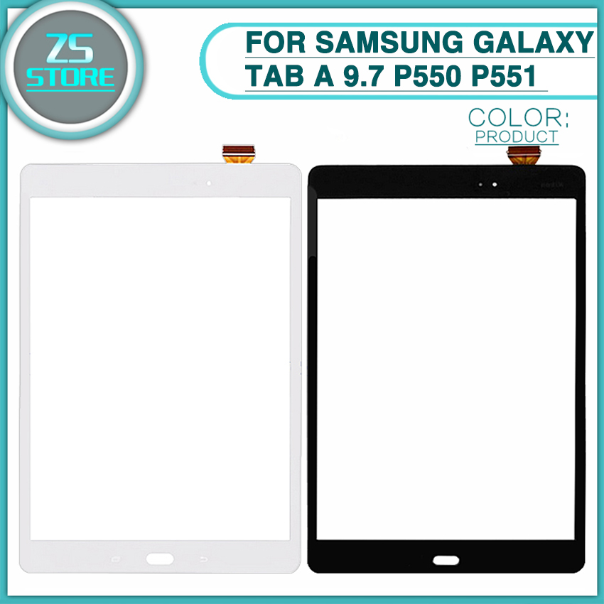 10pcs New P550 Touch Panel For Samsung Galaxy Tab A 9.7 P550 P551 P555 Touch Screen Digitizer Sensor front outer Glass Lens