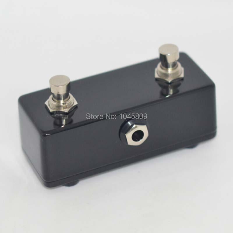 Guitarra AMPLIFICADOR PEDAL momentary Pedal amp DUAL channel 2 Preto