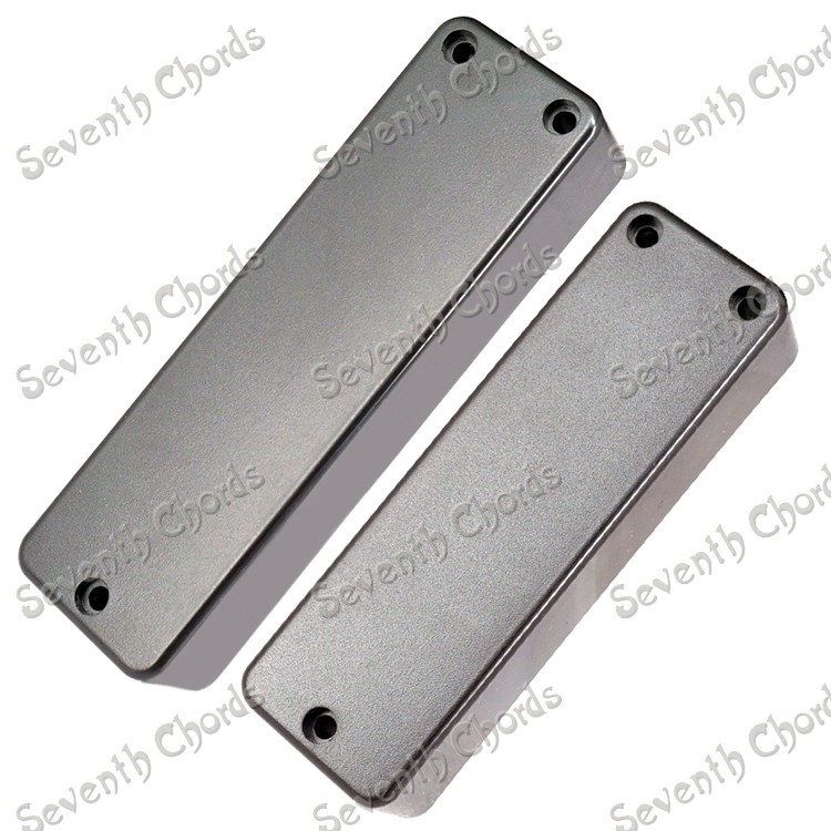 2 Pcs Sealed Closed Type Bass Guitar Pickup CoversLidShellTop with 3 Screw Hole  length 100MM &108MM for choose