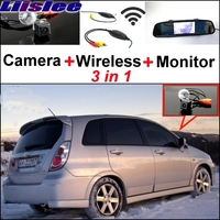 Liislee For Suzuki Aerio Liana Hatchback Special Rear View Camera Wireless Receiver + Mirror Monitor Back Up Parking System