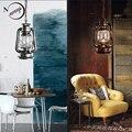 Винтажный Ретро фонарь  керосиновая Подвесная лампа E27  Светильники для ресторана  спальни  столовой  гостиной  кухни  кафе