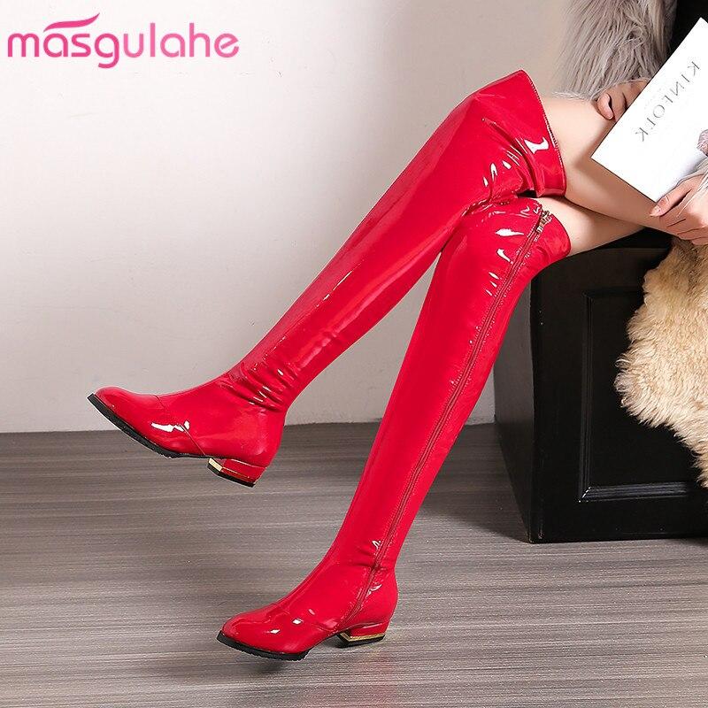 e0ca7468 Baile Por Mujeres 2019 Cremallera Tacón Rodilla negro Encima rojo Zapatos  Bajo Botas Elegantes La Caliente Dedo De Venta Pie Las Apricot Cuero ...
