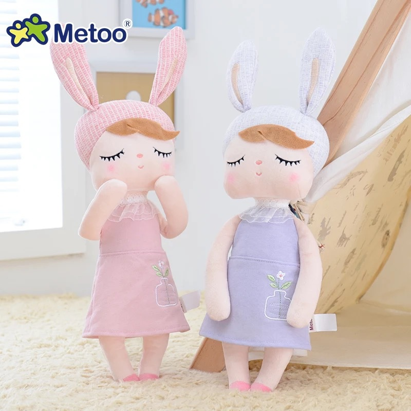 45cm Metoo Newest Plush Stuffed Sweet Rabbit Cute Animals For Kids Toys Angela Metoo Doll For