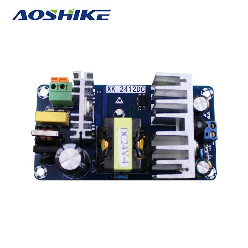 Aoshike AC85-265V to DC24V Switching Power Supply Board AC-DC Power Module 24V 4-6A 100W Used Globally meanwell 24v 75w ul certificated nes series switching power supply 85 264v ac to 24v dc
