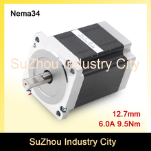 New arrival! NEMA 34 CNC stepper motor 86X126mm 9.5N.m 6A D12.7mm 1350Oz-in stepping motor for CNC engraving machine 3D printer
