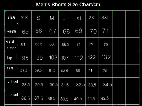 usa size menshorts