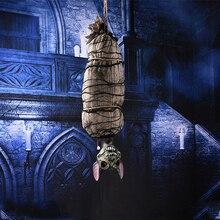 Accesorios de decoración de fantasma colgante de terror, Casa Encantada escalofriante de Halloween, decoraciones de murciélago de zombi, accesorio de Bar para fiesta, juguete mágico