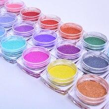 5 Boxes Magic Mirror Glitter Nail Chrome Pigment Shell Dazzling DIY Salon Micro Holographic Powder Nail Art Decorations Manicure