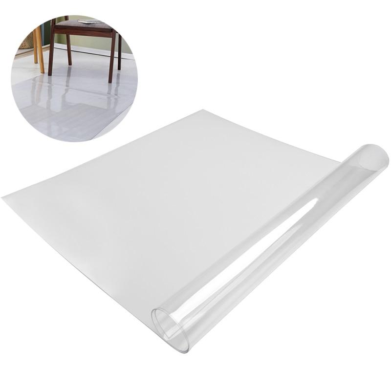 Transparent Carpet Rugs PVC Carpet Chair Floor Mat Kitchen Mat Rug for Living Room Freely Cut Soft Chair Table Carpet Doormat