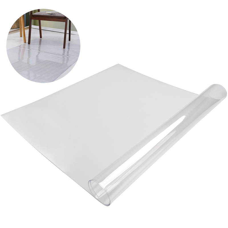 Transparent Freely Cut Carpet PVC Carpet Chair Floor Mat Rugs Soft Chair Flooring Protective Mats Rug Living Room Table Carpet