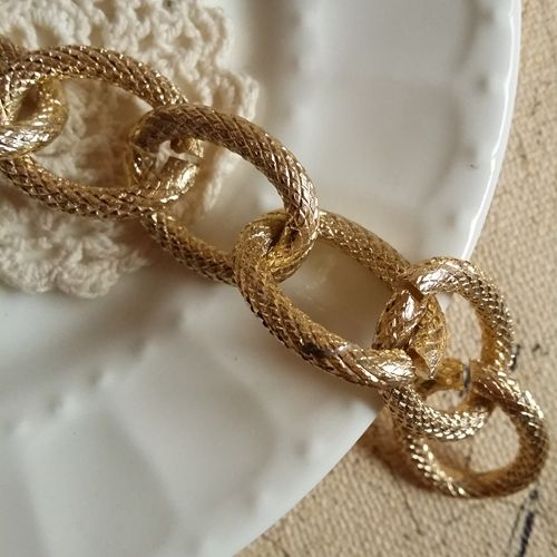 2M/lot 20MM/W Fashion Gold Plated Aluminum Link Chains Jewelry Findings Accessories
