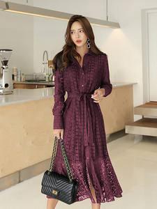 BGTEEVER Spring Lace Women Long Elegant Female Vestidos
