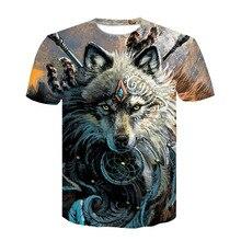 Wolf Warrior by SunimaArt 3D T shirts Men T shirts New Design Drop Ship Tops Tees
