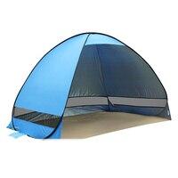 Barraca de Praia Tenda Sol Abrigo UV-Proteção Rápida Abertura Automática Tenda Sombra Lightwight Pop Up Aberto Para Acampamento Ao Ar Livre pesca