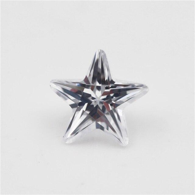 Купить 4x4 мм ~ 10x10 звездная форма белая aaaaa фотокамень