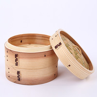 Bamboo Steamer Covers Wooden Food Steamers for Pastry Kitchen Household Stuffed Bun Steamed Healthy Kitchenware 24cm Many Sizes