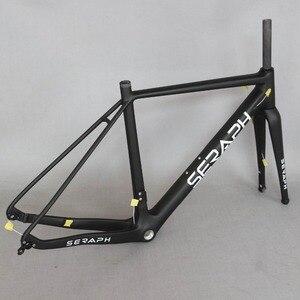Image 4 - Cuadro de bicicleta de carbono 2020 grava 700C disponible, SERAPH bikes Thru Axle 142mm grava Di2 cuadro de ciclocross disco de carbono nuevo marco