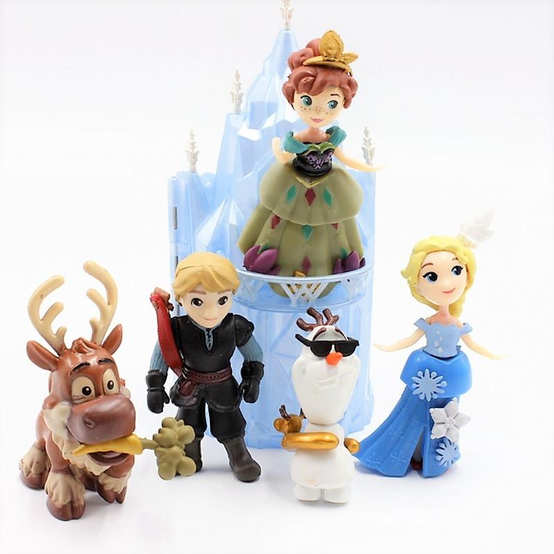 Disney Toys 6pcs/Lot 6 16cm Frozen Anna Elsa Princess Olaf