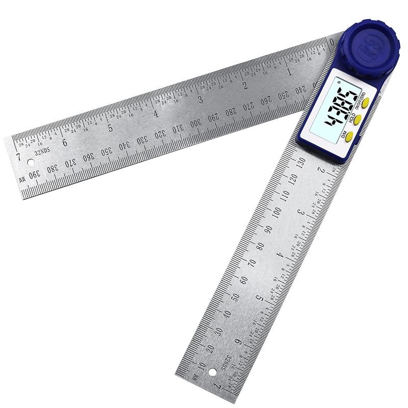 Digital Protractor 200mm 7 Inch Digital Angle Finder Protractor Ruler Meter Inclinometer Goniometer Level Electronic Angle Gauge