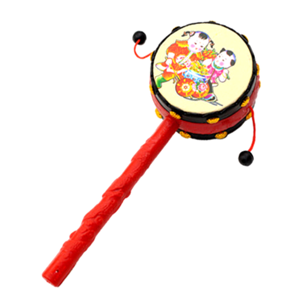 Baby Toys 0-12 Months Plastic Drum-shaped Rattle Children Baby Newborn Musical Educational Toys Baby Rattle
