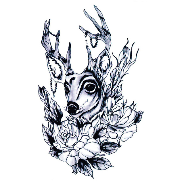 Tymczasowe Tatuaże Naklejka Wateproof Yeeech Kobiety Renifer łosia