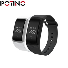 Potino A09 смарт-браслет SmartBand Приборы для измерения артериального давления Мониторы и измеритель пульса шагомер браслет Фитнес браслет для iOS и Android