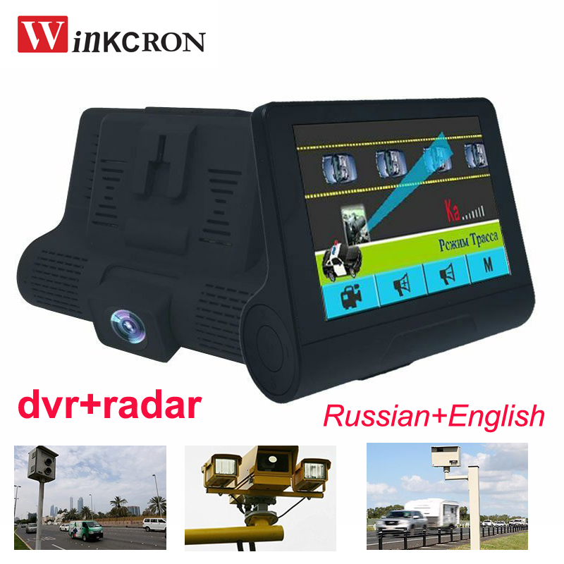 Hot! 4.0 Russian & English 2 in 1 Car DVR Radar Detector Full band dvr Camera FHD 1080P Speedcam Anti Radar Detector Dash Cam only for russian market 170 degree 2 4 car dvr e dog vgr b laser radar full band detector dvr camera speed inspection 3 in 1