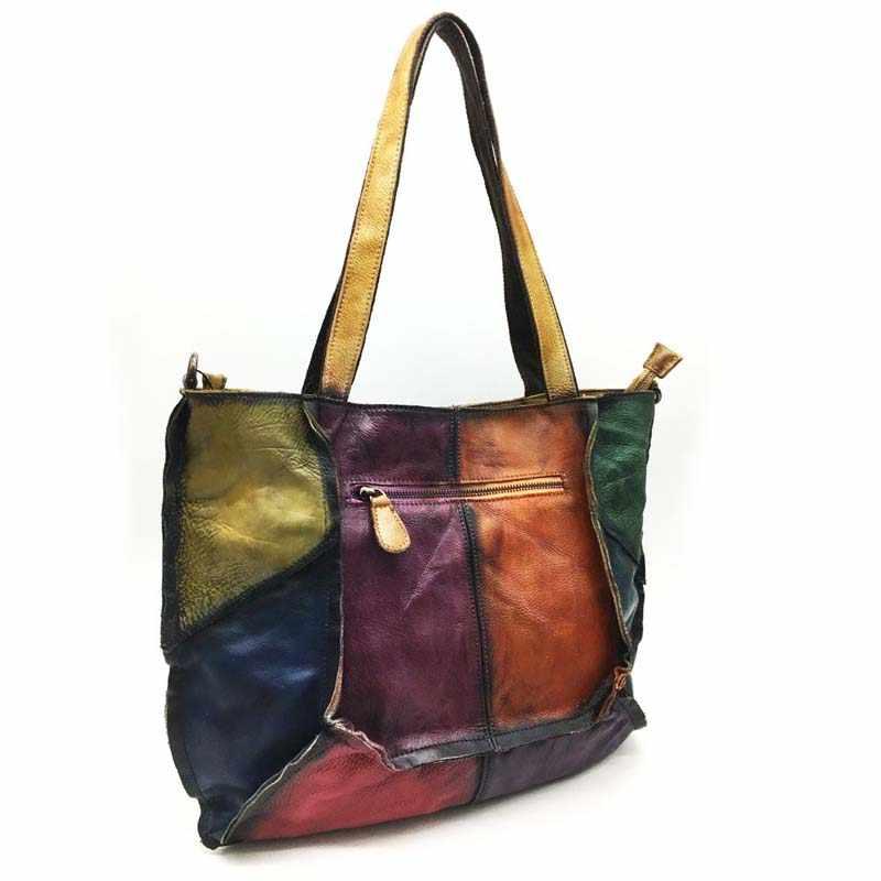 AETOO sacs à main en cuir 2018 nouvelle première couche en cuir dame rétro littéraire simple sac à bandoulière coloré à la main