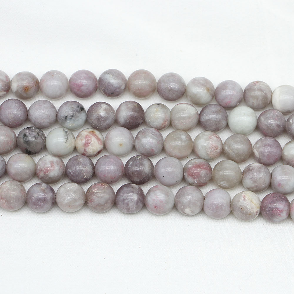 1strand/lot 4/6/8/10/12mm Natural Stone Violet Lilac Jaspers Bead Loose Spacer Beads For Jewelry Making Findings Diy Bracelet Beads