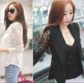 Nova blazer 2017 mulheres primavera Coreano fivela de ouro Fino terno senhoras outono OL blazers blaser feminino casual outerwear S-XXL