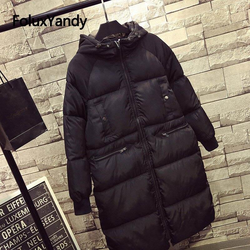 7XL Plus Size   Parkas   Coats Casual Long Sleeve Warm Thick Winter Jacket Women Hooded Long   Parka   Black Outerwear NQYL53