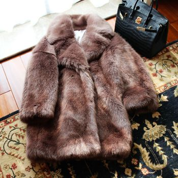 New Style High-end Fashion Women Faux Fur Coat 17S12