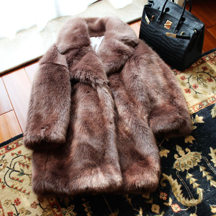 Nouveau Style haut de gamme mode femmes fausse fourrure manteau 17S12