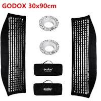 2pcs Godox Softbox 30x120cm With Honeycomb Grid Strip Bowens Mount for Godox DE300 SK400II DE400 Photo Studio Strobe Flash Light
