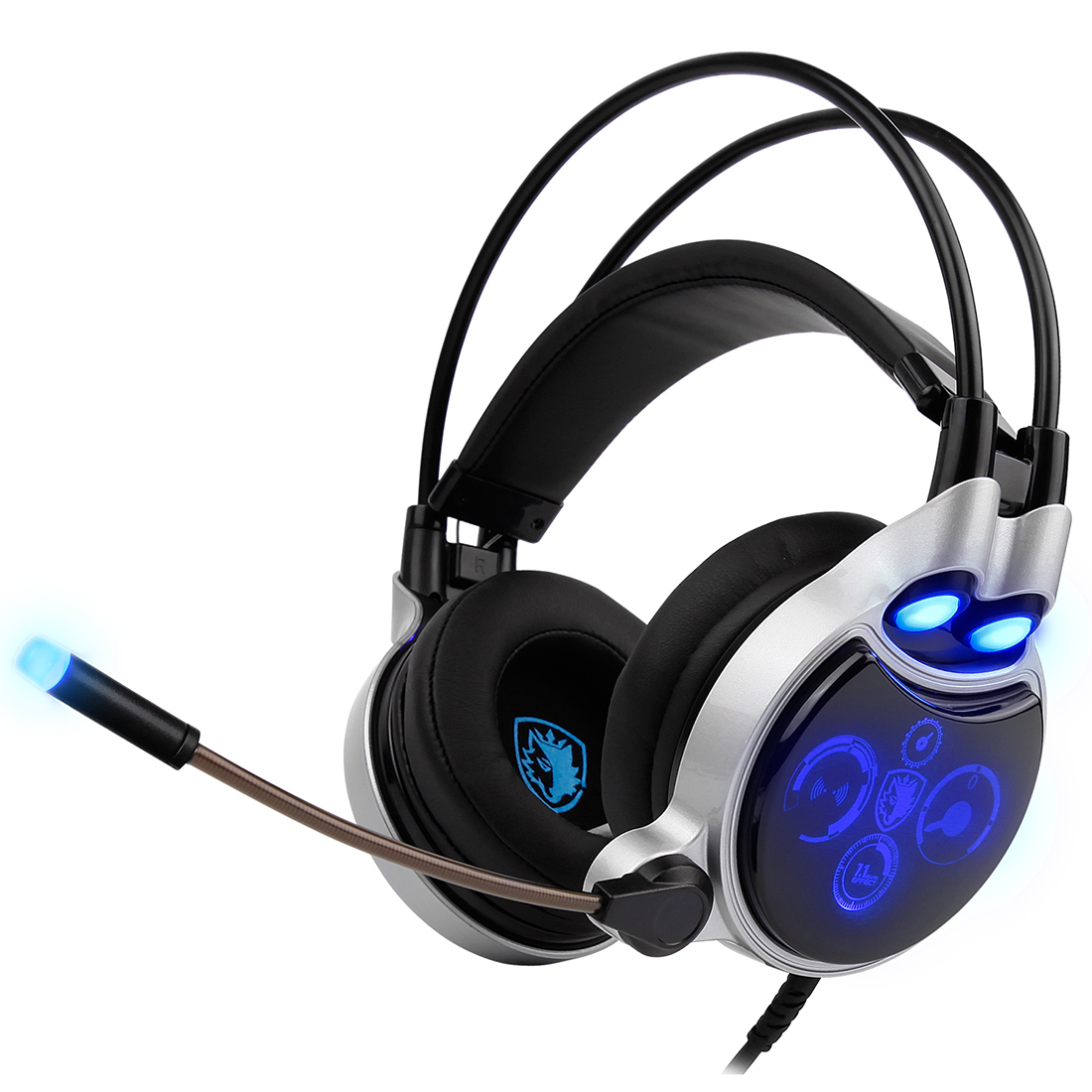 цена на SADES SA-908 USB Gaming Headset Equipped with Digital 7.1 Channel Surround Sound