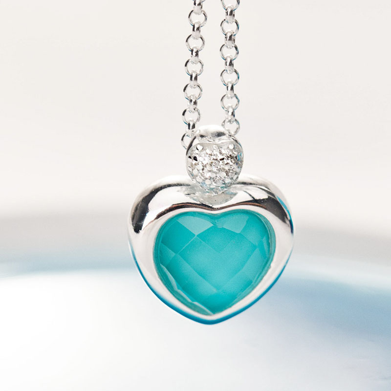 pendant turquoise product original angel by com stone notonthehighstreet necklace lisaangeljewellery lisa with triangle