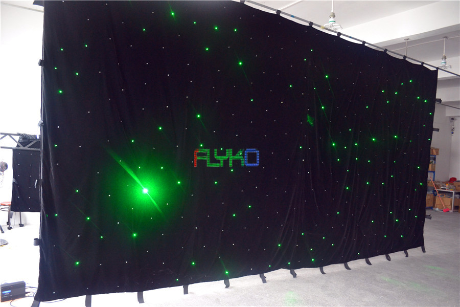 chrismas usage led star curtain 3x6m free shipping