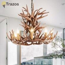 Moderne kreative design Harz Rntlers Loft-stil Hanf Christus Pendelleuchte für Hauptbeleuchtung Bar Cafe Hängen Edison
