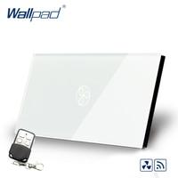 Smart Home Wallpad US AU Standard Touch Switch AC 110 250V RF Tech Remote Fan Speed