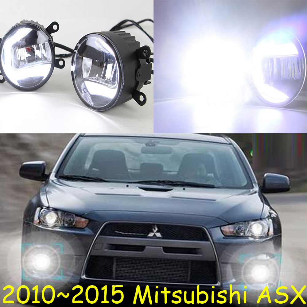 car bumper lamp for headlight Mitsubishi ASX Daytime light LED car accessories daylamp for 2009~2015year ASX fog lamp