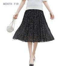 Шифоновая бальная юбка для беременных; Одежда для беременных; юбки для беременных; летние юбки трапециевидной формы в горошек для беременных; одежда для мам;