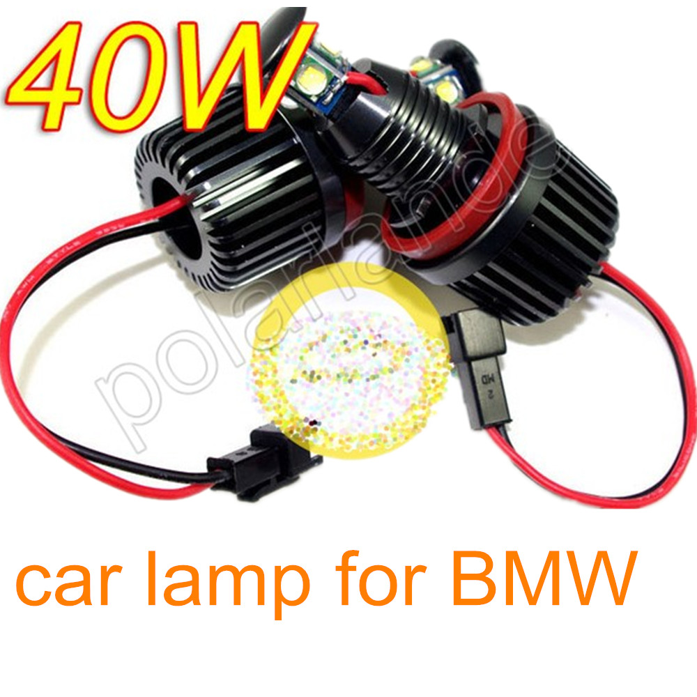 40W ANGELE EYES LED MARKER FOR BMW E82 E87 E90 E91 E92 CAR LAMP free shipping