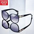 Triumph vision óculos polarizados condução óculos de sol para as mulheres de luxo da marca óculos de sol feminino rodada gradiente elegante ladies shades 2017