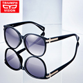 Triumph vision gafas de sol femeninas polarizadas de conducción gafas de sol de la marca de lujo para las mujeres ronda gradiente elegante ladies shades 2017