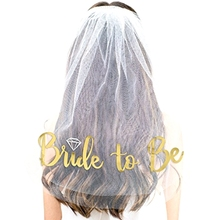 1pcs Creative New Bachelorette Rose Gold Glitter veil Bride To Be Gilded Bridal Shower Wedding Decoration Hen Party