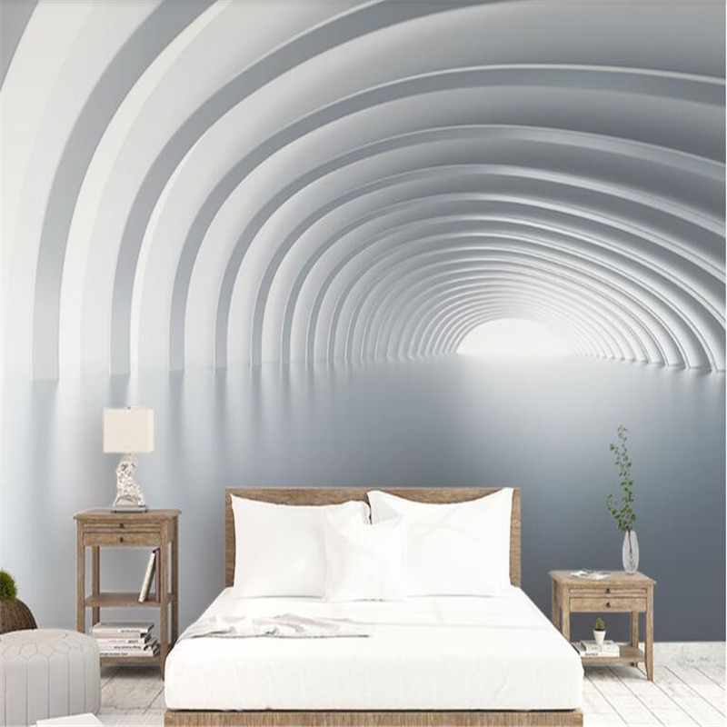 Beibehang Custom Aesthetic Abstract 3D Space Mural
