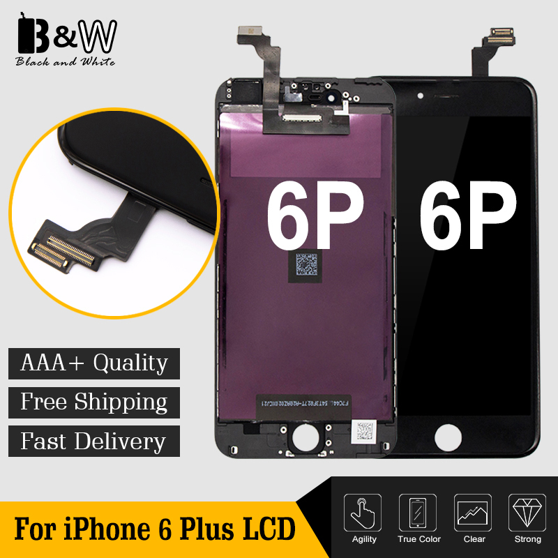 10PCS LOT 5 5 For iPhone 6 Plus LCD Display Screen Replacement Touch Digitizer Assembly 100